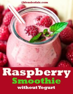 Raspberry Smoothie Recipe without Yogurt